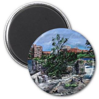 Chattahoochee River Columbus GA  & Phenix City 2 Inch Round Magnet