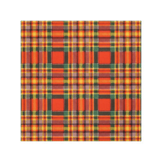 Chattan clan Plaid Scottish tartan Gallery Wrapped Canvas