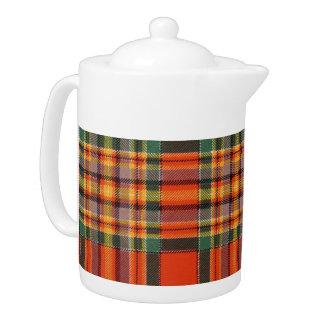 Chattan clan Plaid Scottish tartan Teapot