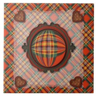 Chattan Scottish clan tartan - Plaid Ceramic Tile