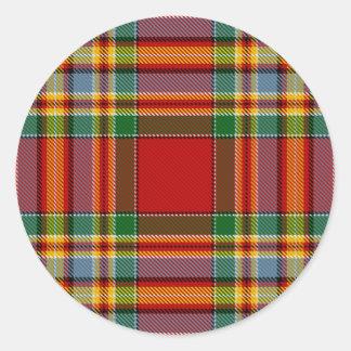 Chattan Tartan Classic Round Sticker