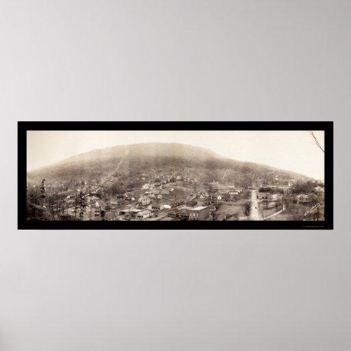 Chattanooga, foto 1909 del TN Póster