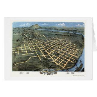 Chattanooga, mapa panorámico del TN - 1871 Tarjeta De Felicitación