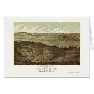 Chattanooga, mapa panorámico del TN - 1887 Tarjeta De Felicitación