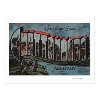 Chattanooga, Tennessee (escena del río) Tarjeta Postal