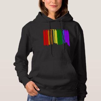 Chattanooga Tennessee Gay Pride Rainbow Skyline Hoodie