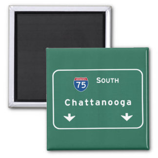 Chattanooga Tennessee Interstate Highway Freeway : 2 Inch Square Magnet