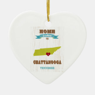 Chattanooga, Tennessee Map – Home Is Where Christmas Ornaments