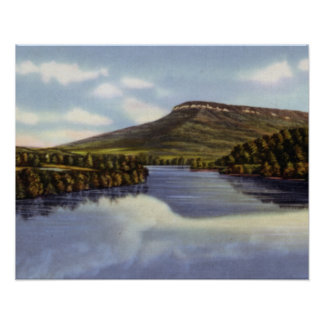 Chattanooga Tennessee River and Lookout Mountain Poster
