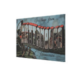 Chattanooga, Tennessee (River Scene) Stretched Canvas Prints