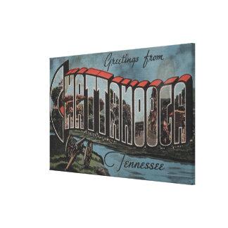 Chattanooga, Tennessee (River Scene) Canvas Print