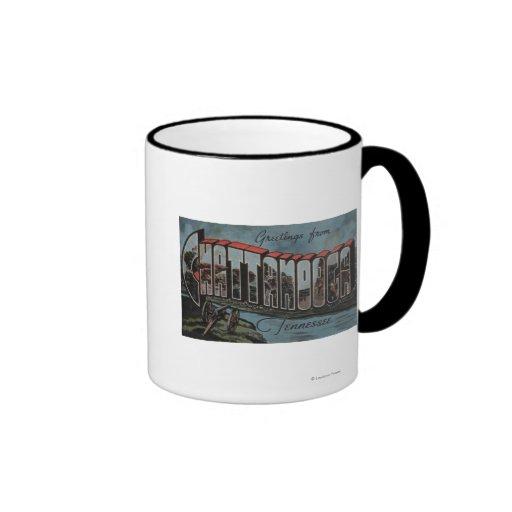 Chattanooga, Tennessee (River Scene) Ringer Coffee Mug