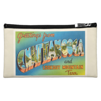 Chattanooga Tennessee TN Vintage Travel Souvenir Cosmetic Bag