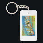 """Chattanooga Tennessee TN Vintage Travel Souvenir Keychain<br><div class=""""desc"""">Chattanooga,  Tennessee TN  A nostalgic,  vintage travel souvenir postcard image,  an authentic retro design. Greetings from the American Travelogue Virtual Touring Company!</div>"""