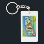 "Chattanooga Tennessee TN Vintage Travel Souvenir Keychain<br><div class=""desc"">Chattanooga,  Tennessee TN