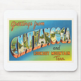Chattanooga Tennessee TN Vintage Travel Souvenir Mouse Pad