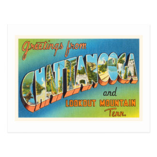Chattanooga Tennessee TN Vintage Travel Souvenir Postcard