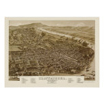 Chattanooga, TN Panoramic Map - 1886 Posters