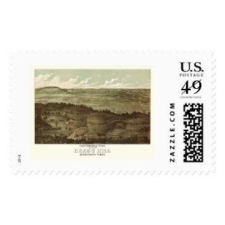 Chattanooga, TN Panoramic Map - 1887 Postage Stamp