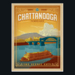"Chattanooga, TN Postcard<br><div class=""desc"">Anderson Design Group is an award-winning illustration and design firm in Nashville,  Tennessee. Founder Joel Anderson directs a team of talented artists to create original poster art that looks like classic vintage advertising prints from the 1920s to the 1960s.</div>"
