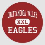 Chattanooga Valley - Eagles - Middle - Flintstone Round Stickers