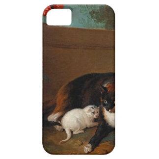 Chatte y chaton, y Chien y perroque Funda Para iPhone 5 Barely There