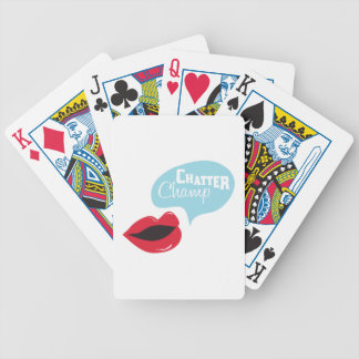 Chatter Champ Bicycle Playing Cards