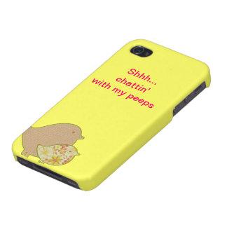 Chattin con mis píos iPhone 4/4S carcasas