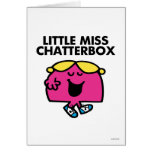 Chatting With Little Miss Chatterbox Greeting Card