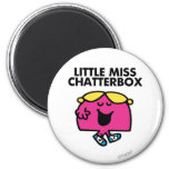 Chatting With Little Miss Chatterbox 2 Inch Round Magnet