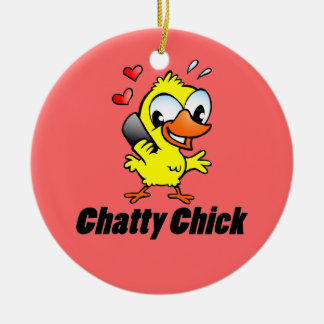Chatty Chick Christmas Tree Ornaments