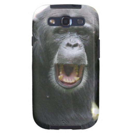 Chatty Chimpanzee Samsung Galaxy Case Samsung Galaxy SIII Covers