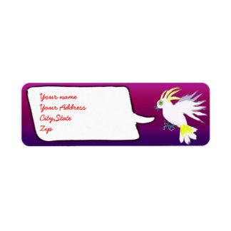 chatty cockatoo return address label