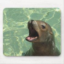 Chatty Sea Lion Mouse Pad