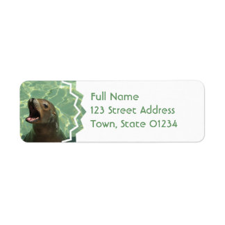 Chatty Sea Lion Return Address Mailing Label