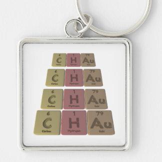 Chau como oro del hidrógeno del carbono llavero personalizado