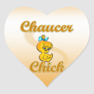 Chaucer Chick Heart Stickers