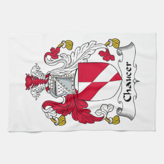 Chaucer Family Crest Hand Towel