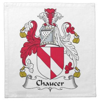 Chaucer Family Crest Napkins