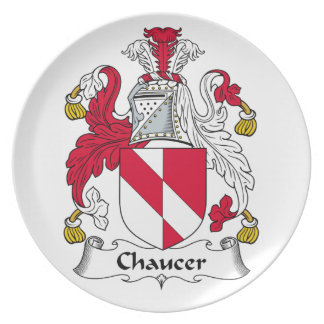 Chaucer Family Crest Plate