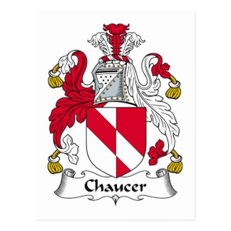 Chaucer Family Crest Postcard