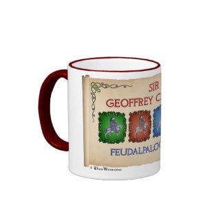 Chaucer 'Feudalpalooza' 1392 Tour (Mug) Ringer Coffee Mug