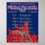 "Chaucer ""Feudalpalooza"" poster de 1392 viajes"