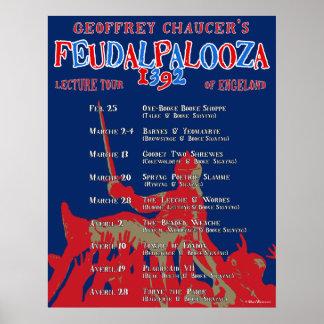 Chaucer Feudalpalooza poster de 1392 viajes