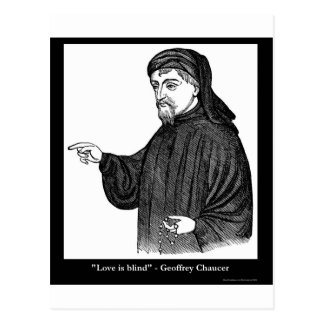 Chaucer Love Is Blind Quote Tees Gifts MORE! Postcard