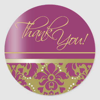 "Chaucer Sticker ""Thank You"" (gold/purple-2)"