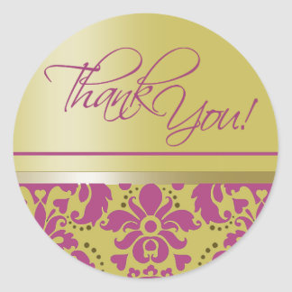 "Chaucer Sticker ""Thank You"" (purple/gold)"