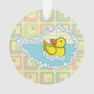 Chaucer the Rubber Duck Acrylic Ornament