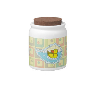 Chaucer the Rubber Duck Candy Jar
