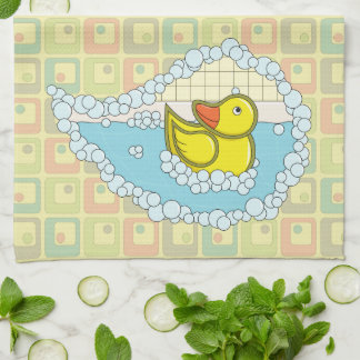 Chaucer the Rubber Duck Kitchen Towel